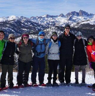 Graduate students on the 2018 annual Astro Ski Trip.
