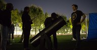 Ryan Rubenzahl showcases what's visible in the spring night sky during a stargazing session following the lecture.