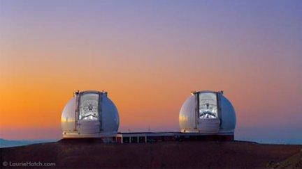 Keck Observatory telescope domes