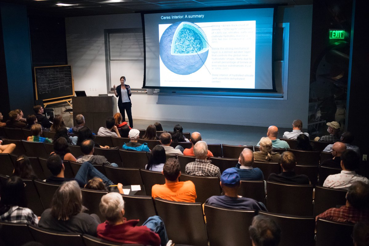 Professor Bethany Ehlmann discusses the results of a study on Ceres, the largest asteroid in our Solar System.