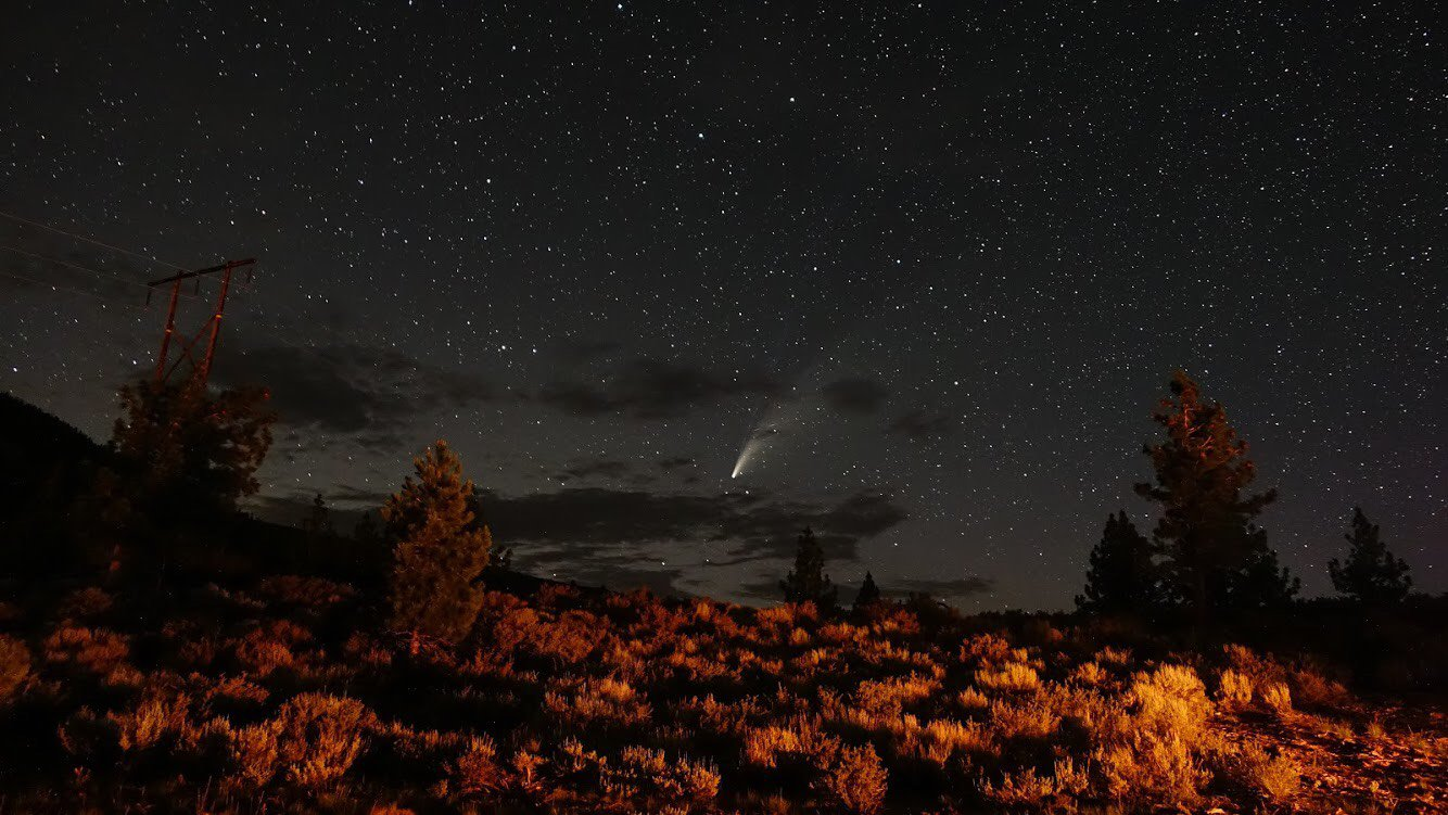 Neowise comet from Yosemite National Park