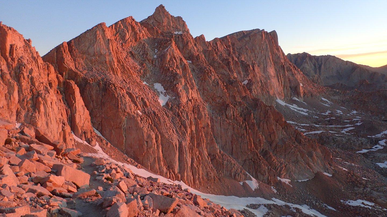 Mt. Whitney sunrise, Sierra Nevada, CA