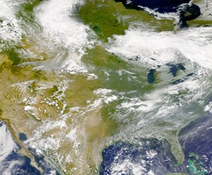 Smoke over North America