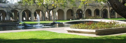 Fountain in front of Millikan Library, Caltech