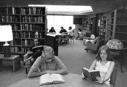 Judy Library in Baxter Hall 1974