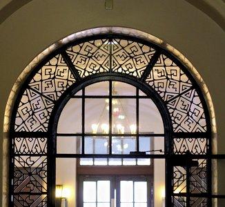 Wrought iron door arch