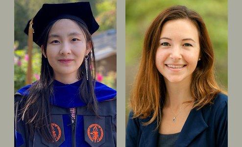 Xiaomin Li (left) and Anastasia Buyalskaya