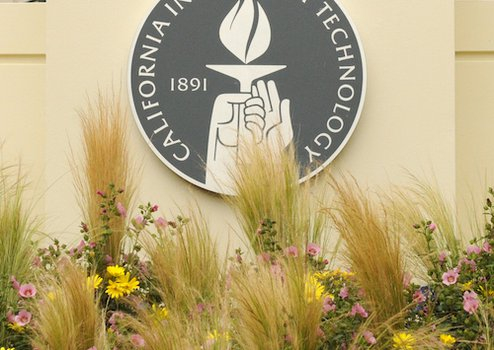 Caltech seal on building