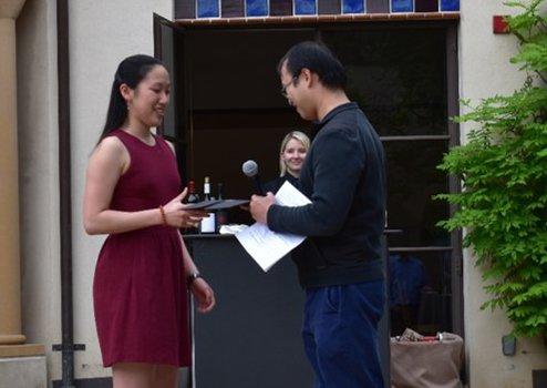 Allison Wang (2019 Winner) with Graduate Option Representative Yi Ni
