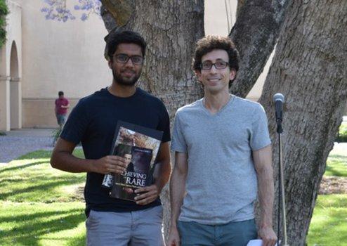 Nishad Maskara (2019 Winner) with Undergraduate Option Representative Jason Alicea
