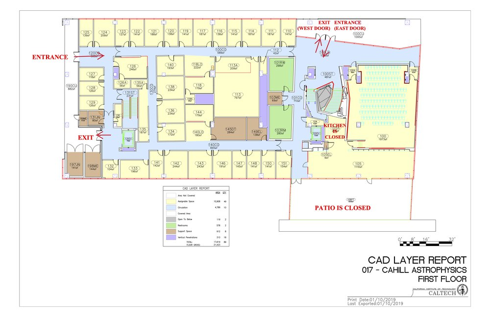 Cahill 1st floor building layout