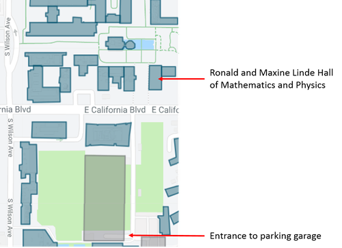 Map of Caltech parking