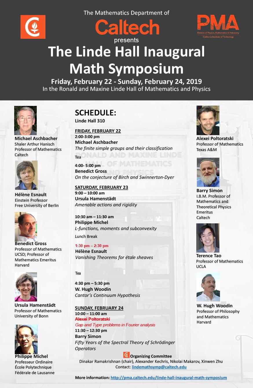 Linde Hall Inaugural Math Symposium_changes