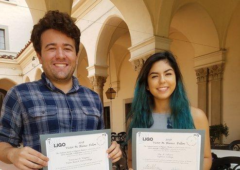 2018 Blanco Fellowship winners Vinivius Wagner and Sky Soltero