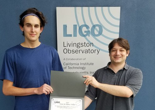 2017 Blanco Fellow Dane Stocks and LIGO Research Physicist Dr. Joseph Betzwieser