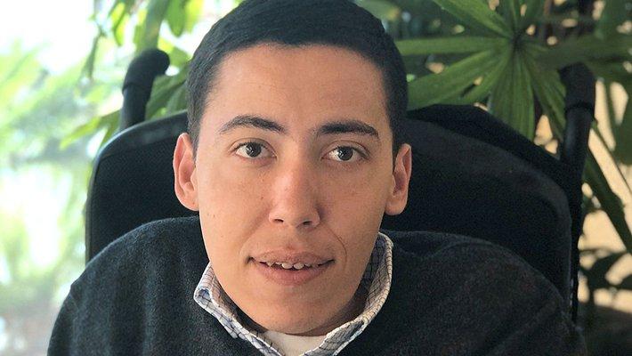 A portrait of Ahmad Omar