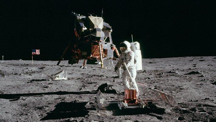 Apollo 11 Lunar Landing Module on the Moon