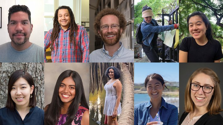 Collage of winners of the 2021 Caltech Center for Inclusion and Diversity awards
