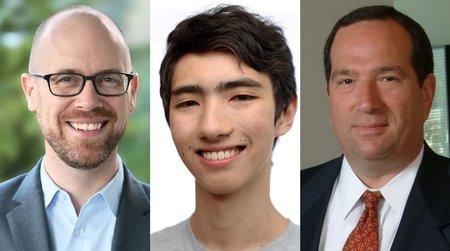 Left to right: Mike Ewens, Ethan Jaszewski, Scott Richland