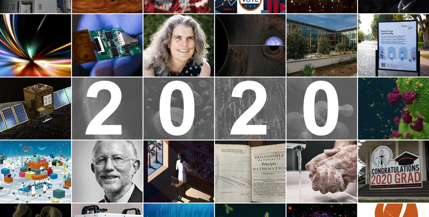 Composition of images from highlighted stories throughout 2020