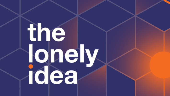 "Cube-pattern ""lonely-Idea"" logo"