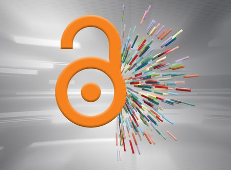 The logo of the open-access movement