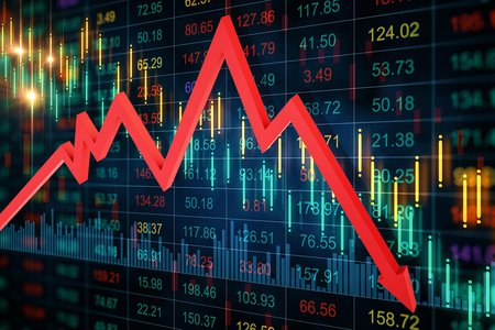 Stock image of stock market activity