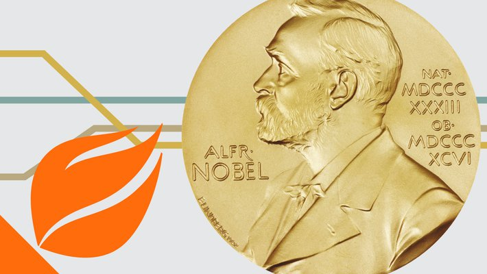 Nobel Prize medallion and partial torch from Caltech seal