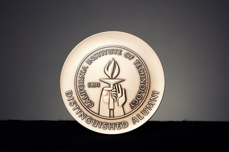 photo of the Distinguished Alumni Award medal