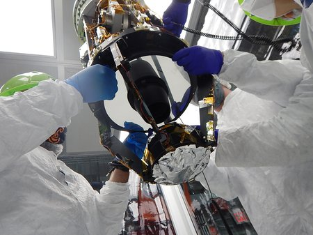 A view of the CIBER-2 primary mirror.
