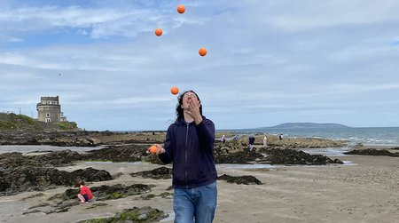 David Conlon juggling in Dublin, Ireland.