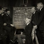 Einstein and colleagues in Holland.