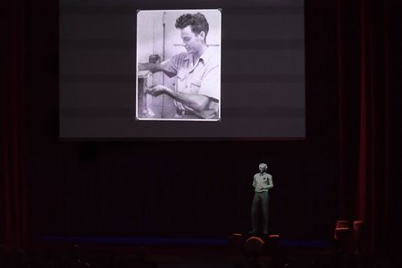 projection of Richard Feynman