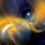 Artwork of the neutron star merger