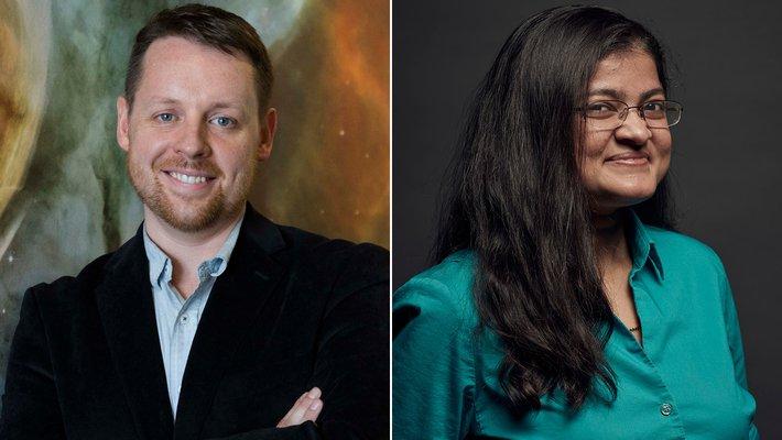 Side-by-side images of Gregg Hallinan and Mansi Kasliwal