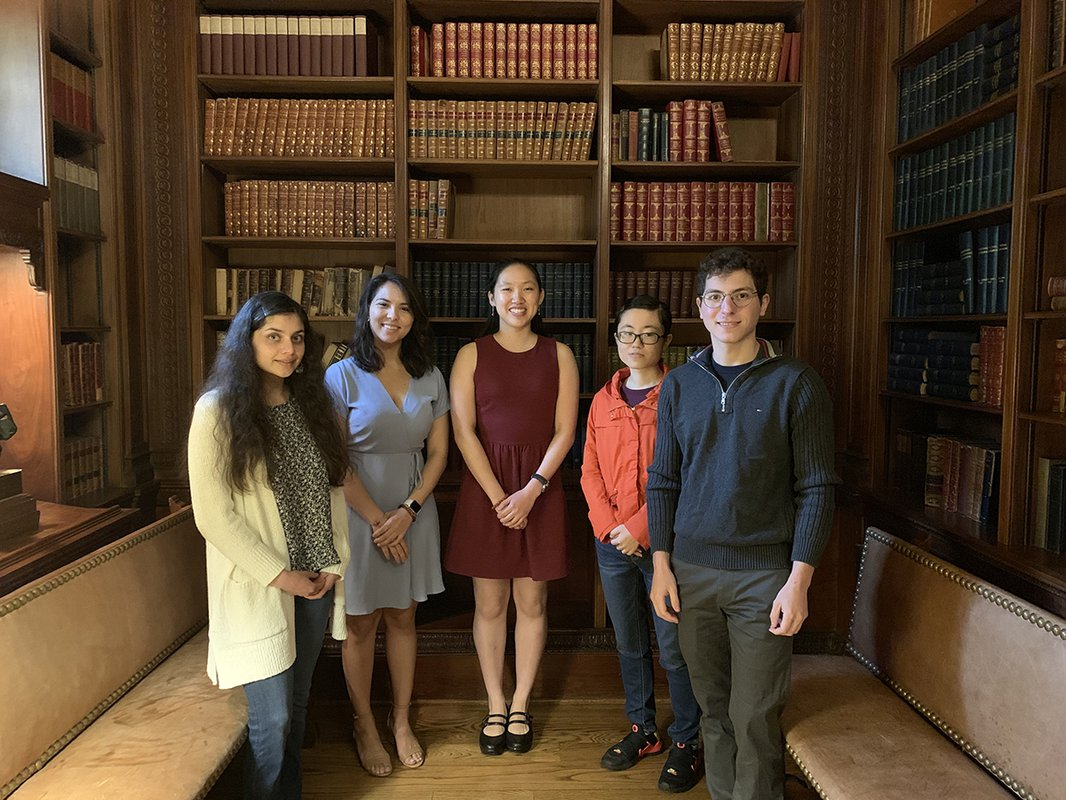 A portrait of several students who won the 2019 Housner, Froehlich, Zeigler and Green Awards