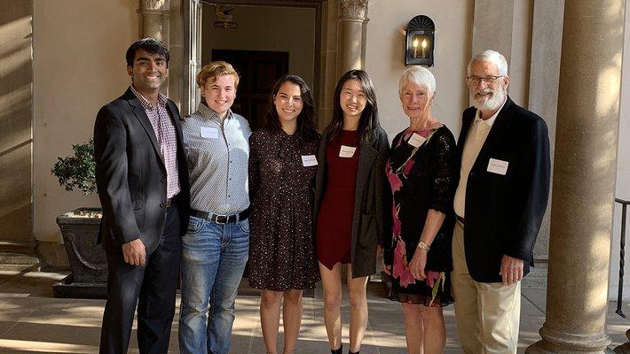 A portrait of several students who won the 2019 Robert L. Noland Leadership Award