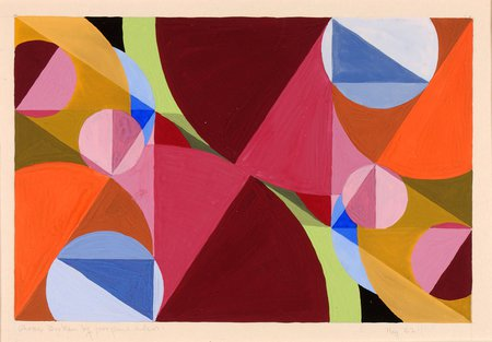 Colorful abstract painting by Joseph Schillinger.