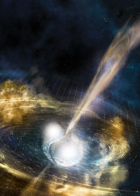 Artwork of neutron stars.