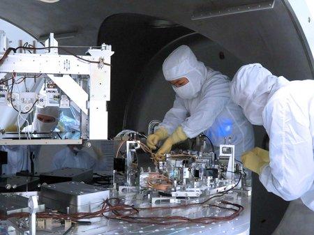 Engineers working on LIGO upgrades