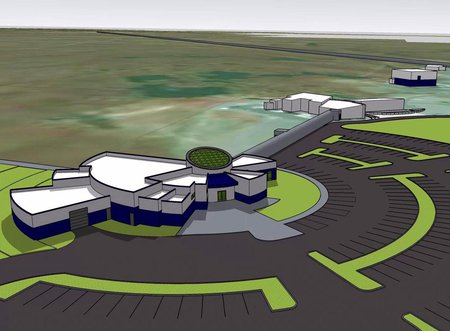 conceptual design of proposed LIGO Hanford Observatory STEM Exploration Center