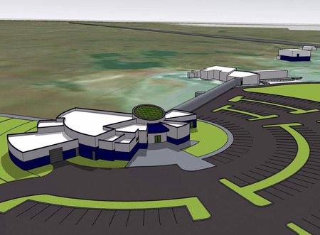 conceptual design of proposed LIGO Hanford Observatory STEM Exploration Center