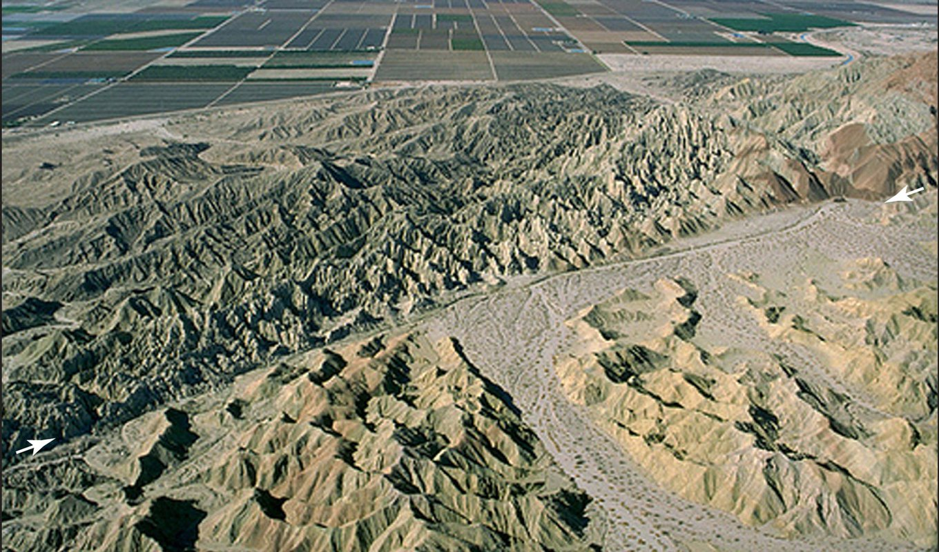 The San Andreas Fault, as seen from above in the Coachella Valley