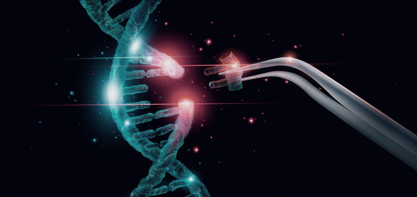 Artist concept of gene editing