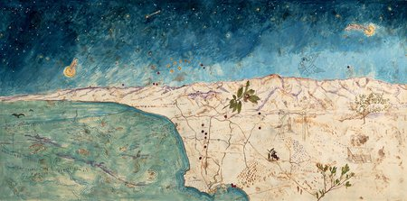 Sandy Rodriguez painting Map of Los Angeles