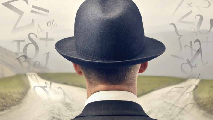 image of a man in a bowler hat facing away