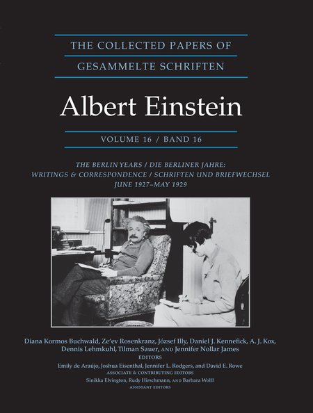 Cover of Volume 16 of Einstein Papers Project